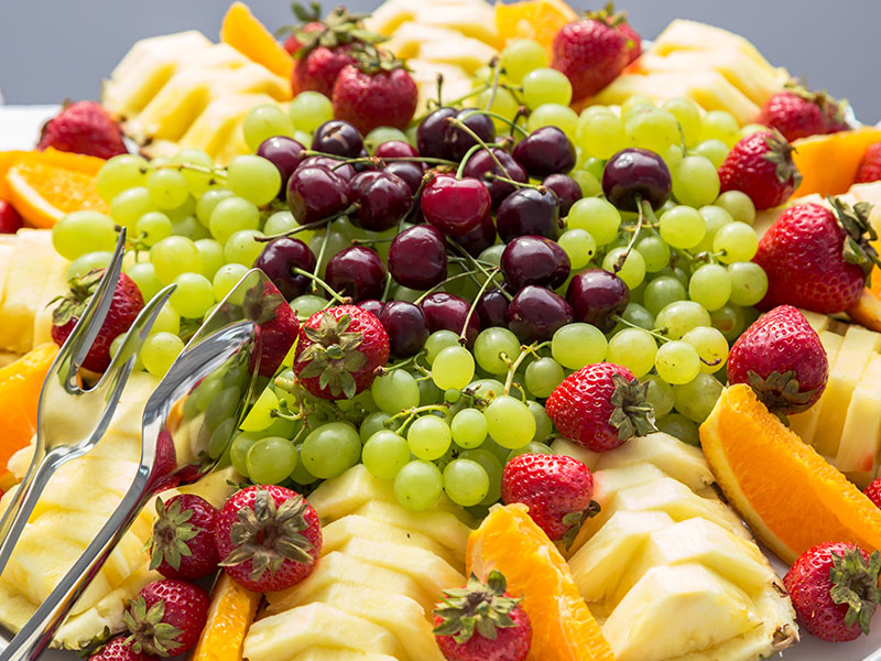 Catering platter of delicious fresh fruit
