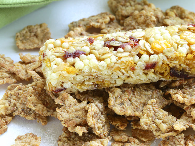 Granola bars with dried fruit and nuts